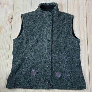 Woolrich Women Gray Sleeveless Stand Up Collared